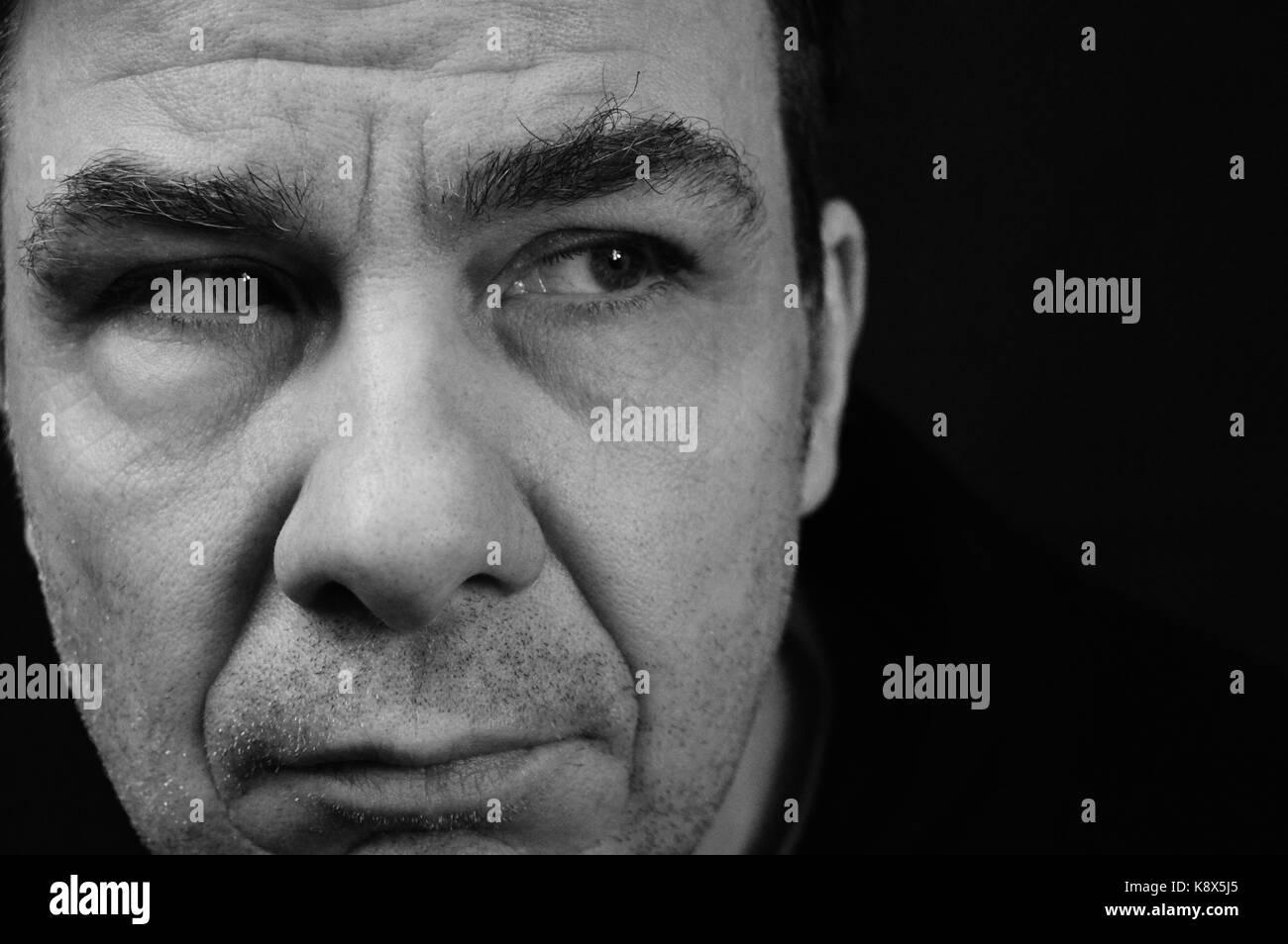 Man suffering depression - Stock Image