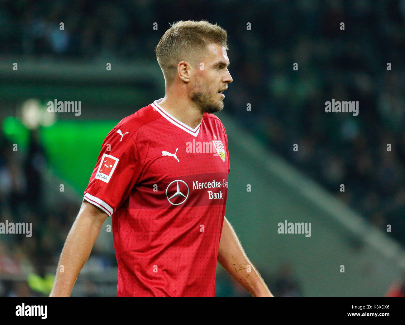 sports, football, Bundesliga, 2017/2018, Borussia Moenchengladbach vs VfB Stuttgart 2:0, scene of the match, Simon - Stock Image