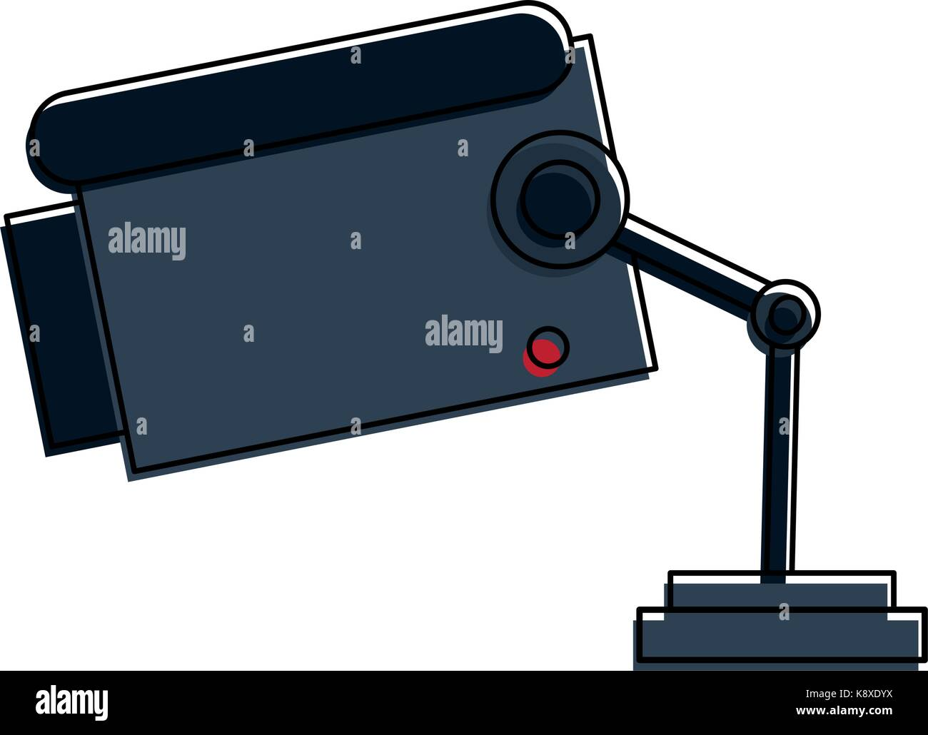 surveillance camera sideview icon image  - Stock Image