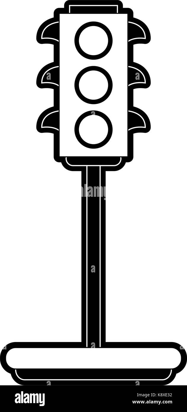 Traffic Light Black and White Stock Photos  for stop light black and white  156eri