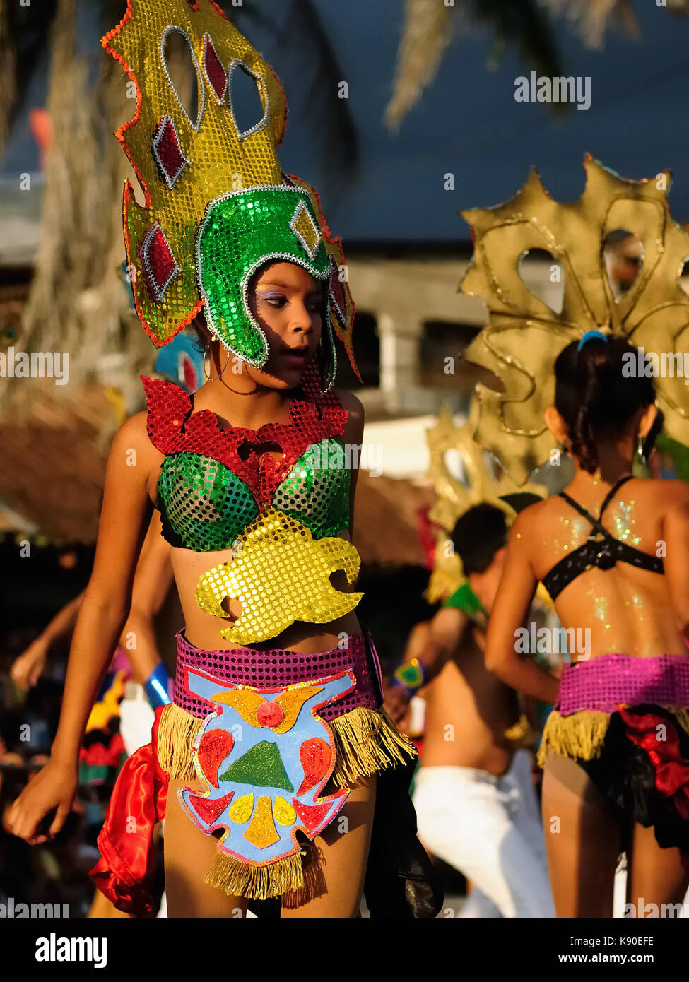 SAN JUAN, NICARAGUA - NOVEMBER 24: Portrait of the participant in the parade in the city San Juan of Nicaragua in Stock Photo
