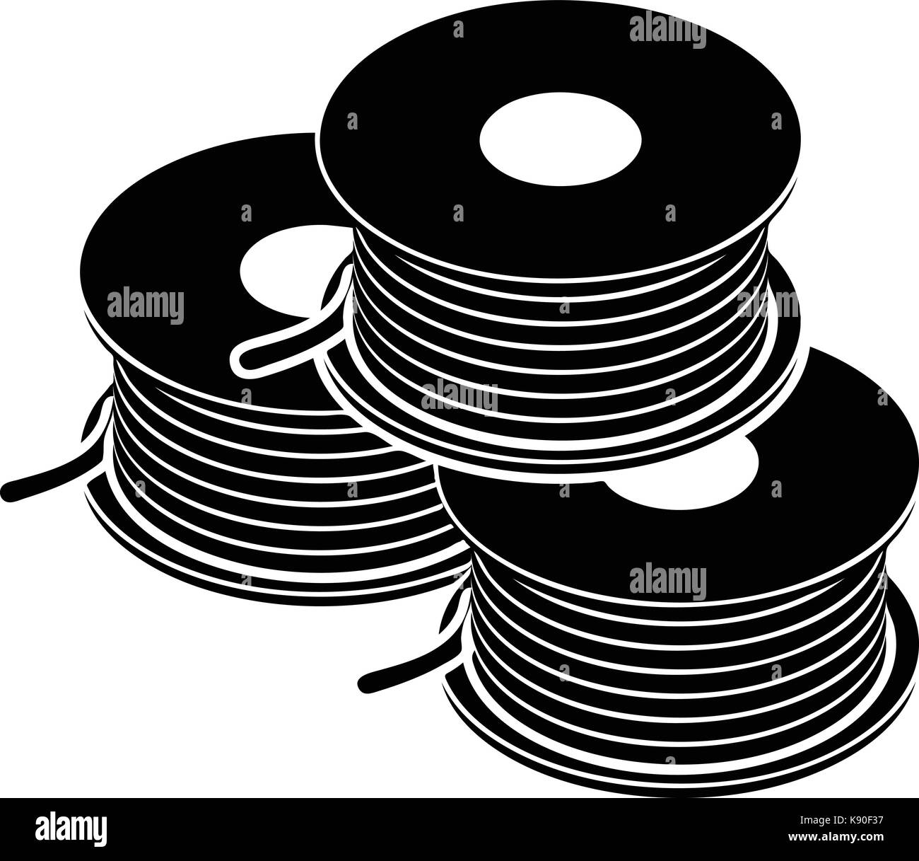 Wire Spool Icon Simple Style Stock Photos & Wire Spool Icon Simple ...