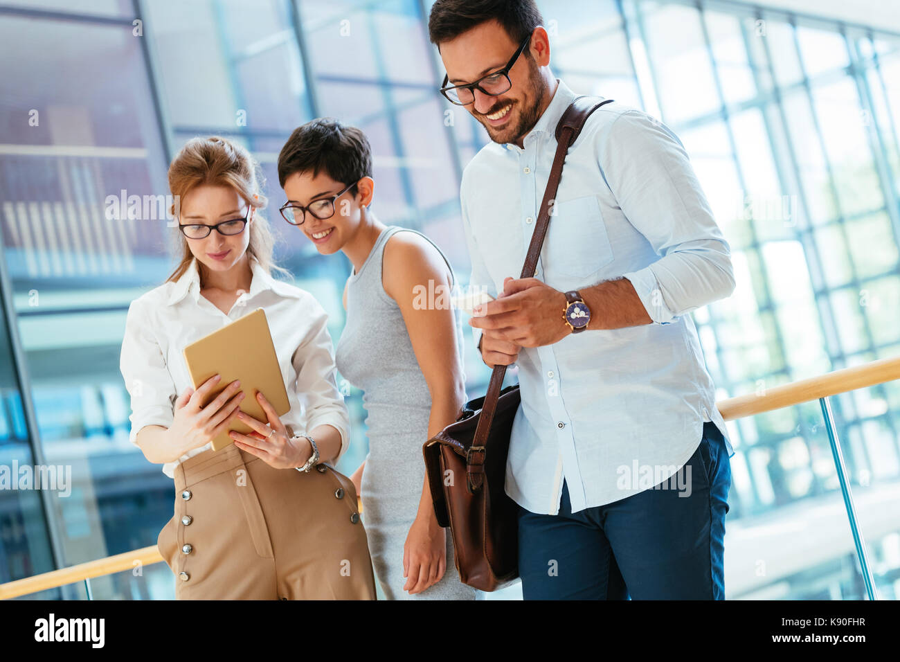 Portrait of businesspeople having free time from work - Stock Image