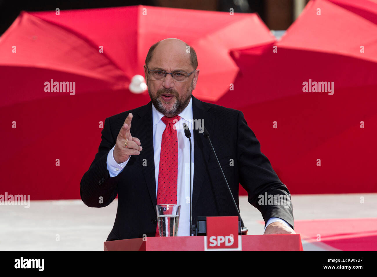 Gelsenkirchen, Germany. 20 September 2017. Leader of the SPD (Social Democrats) and in the running to become the - Stock Image