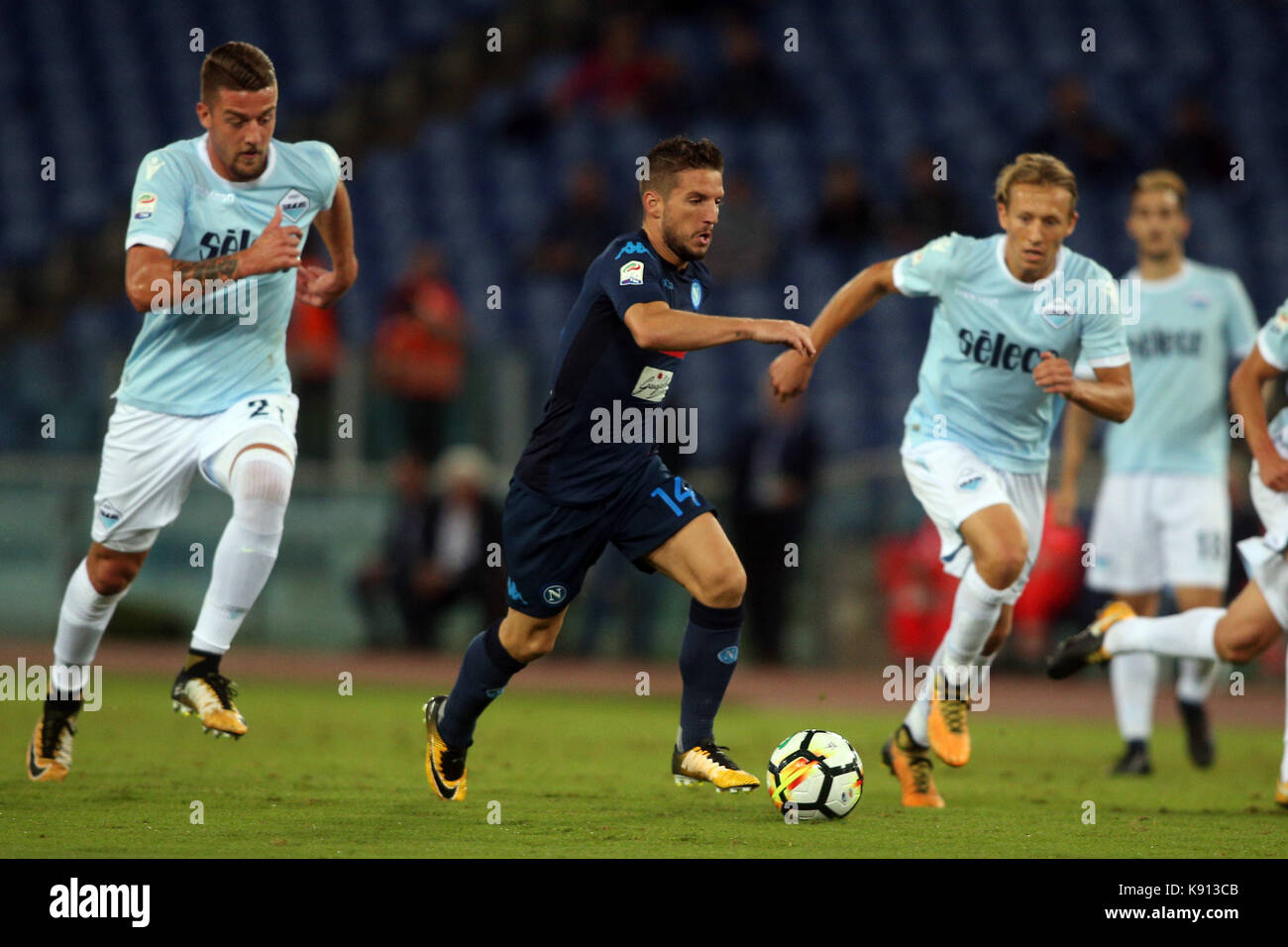 Italy, Rome, September 20, 2017:Mertens in action during the football match Serie A Lazio vs Napoli in Olimpic Stadium - Stock Image
