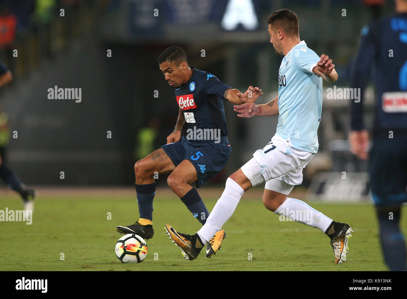 Italy, Rome, September 20, 2017:Allan in action during the football match Serie A Lazio vs Napoli in Olimpic Stadium - Stock Image