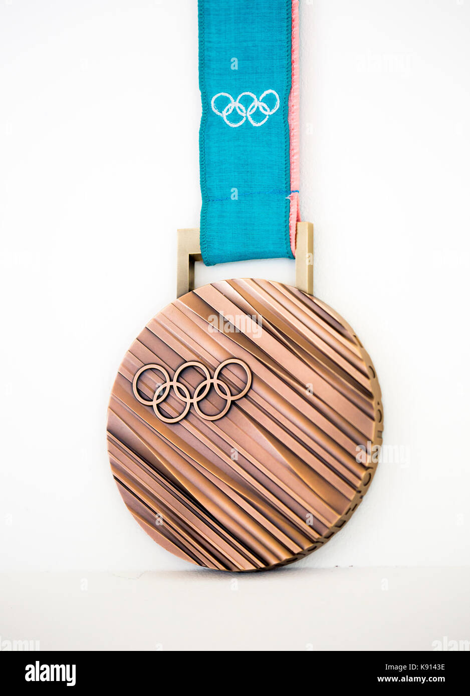 Seoul, South Korea. 21st Sep, 2017. Bronze medal of the 2018 PyeongChang Winter Olympics, Sep 21, 2017 : A bronze - Stock Image