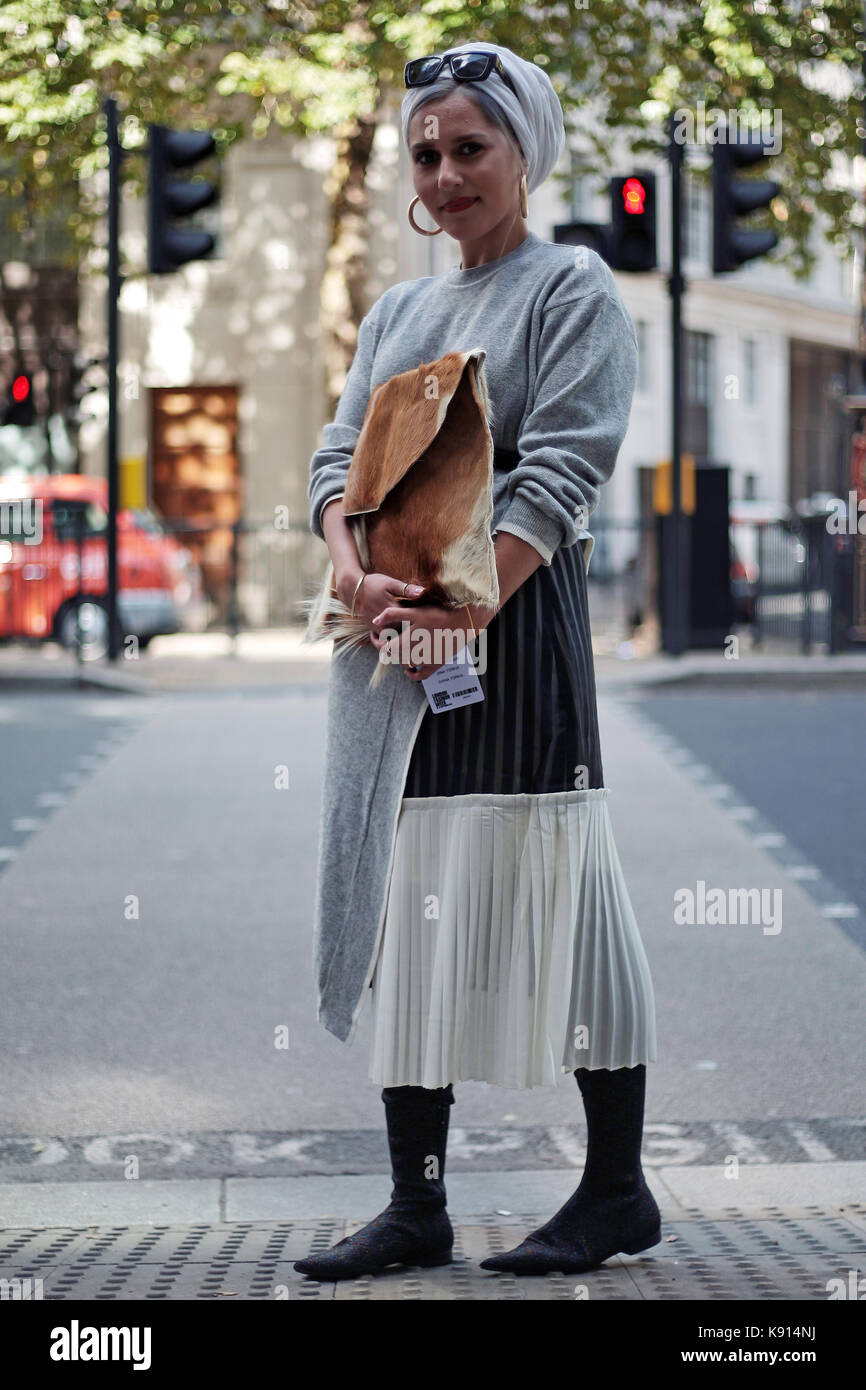 Street style from day one of london fashion week spring summer 2018 stock photo 160450910 alamy Girl fashion style london