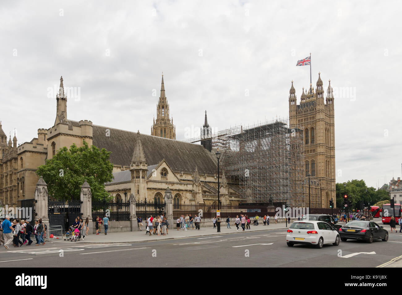 London, UK - August 17, 2017: Parliament to reconsider the length of time Big Ben will be silenced during renovation Stock Photo