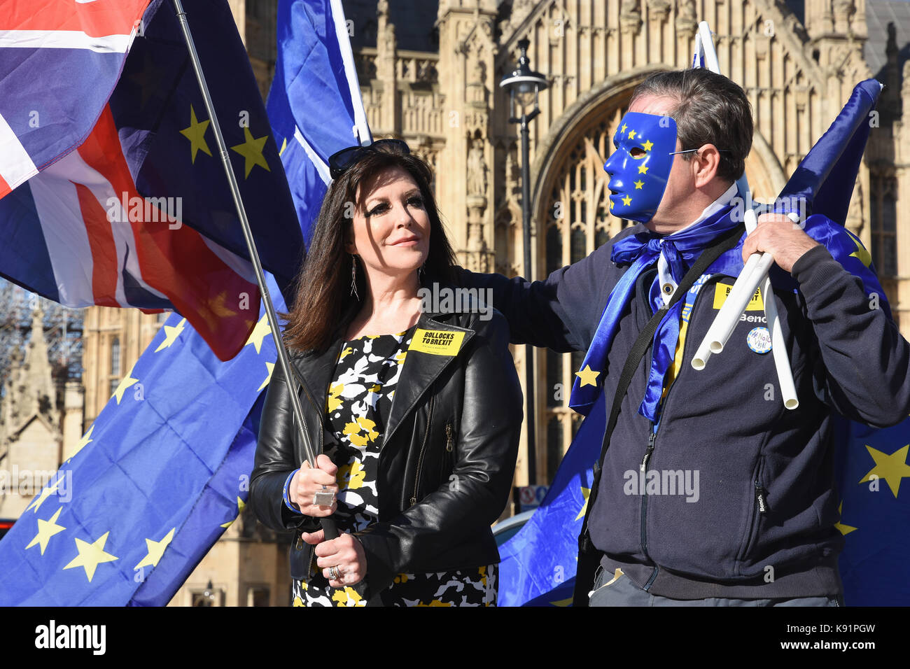 The 3 Million,The Citizen's Rally,Anti Brexit Protest,Houses of Parliament,London.UK - Stock Image