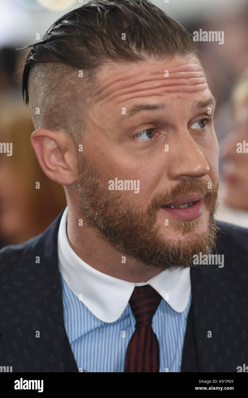 Tom Hardy ,'Dunkirk' - World Premiere ,Odeon Leicester Square, London. UK - Stock Image