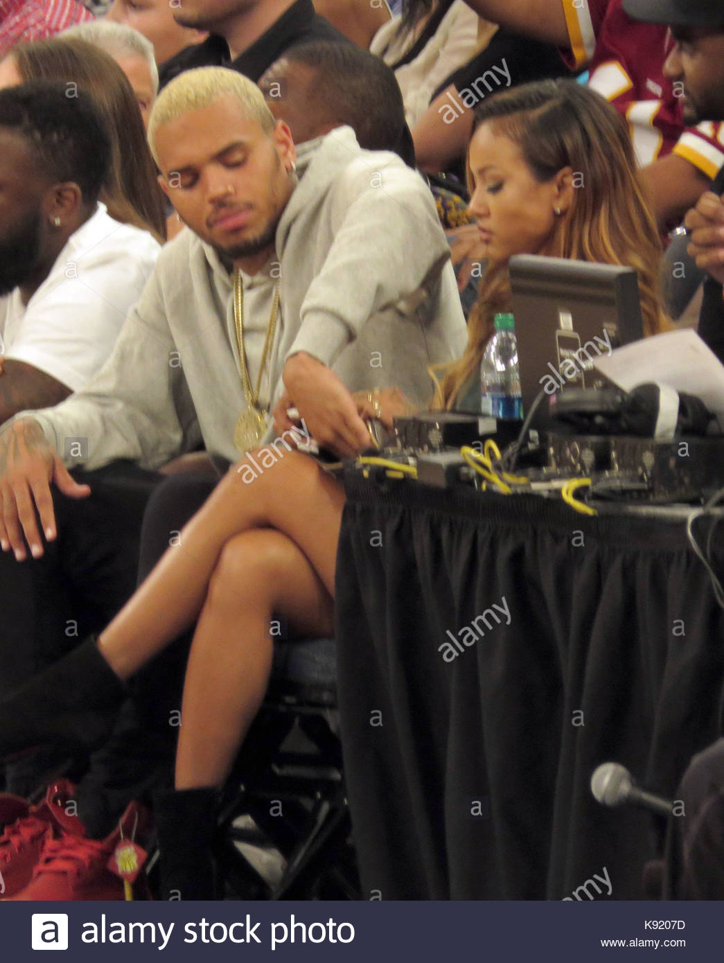 Chris Brown and Karrueche Tran. Chris Brown takes out his ...