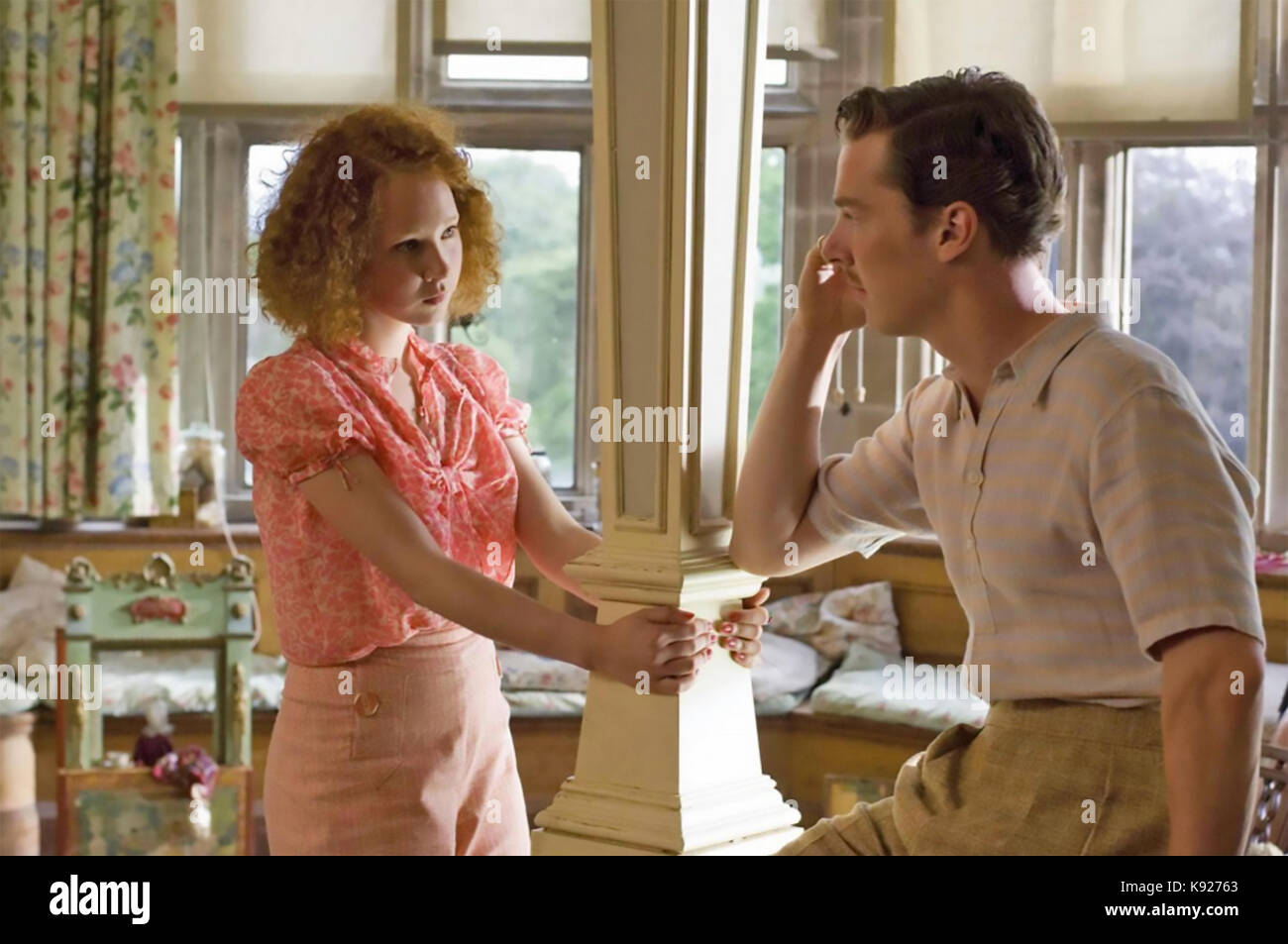 ATONEMENT 2007 Universal Pictures film with Benedict Cumberbatch and Juno Temple - Stock Image