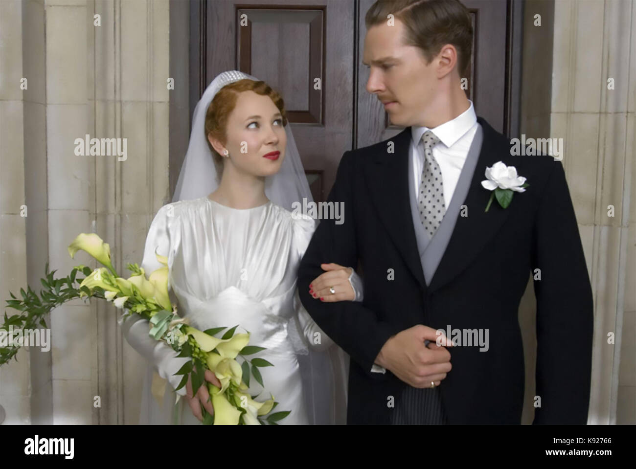 ATONEMENT 2007 Universal Pictures film with Benedict Cumberbatch and Juno Templemarriage - Stock Image