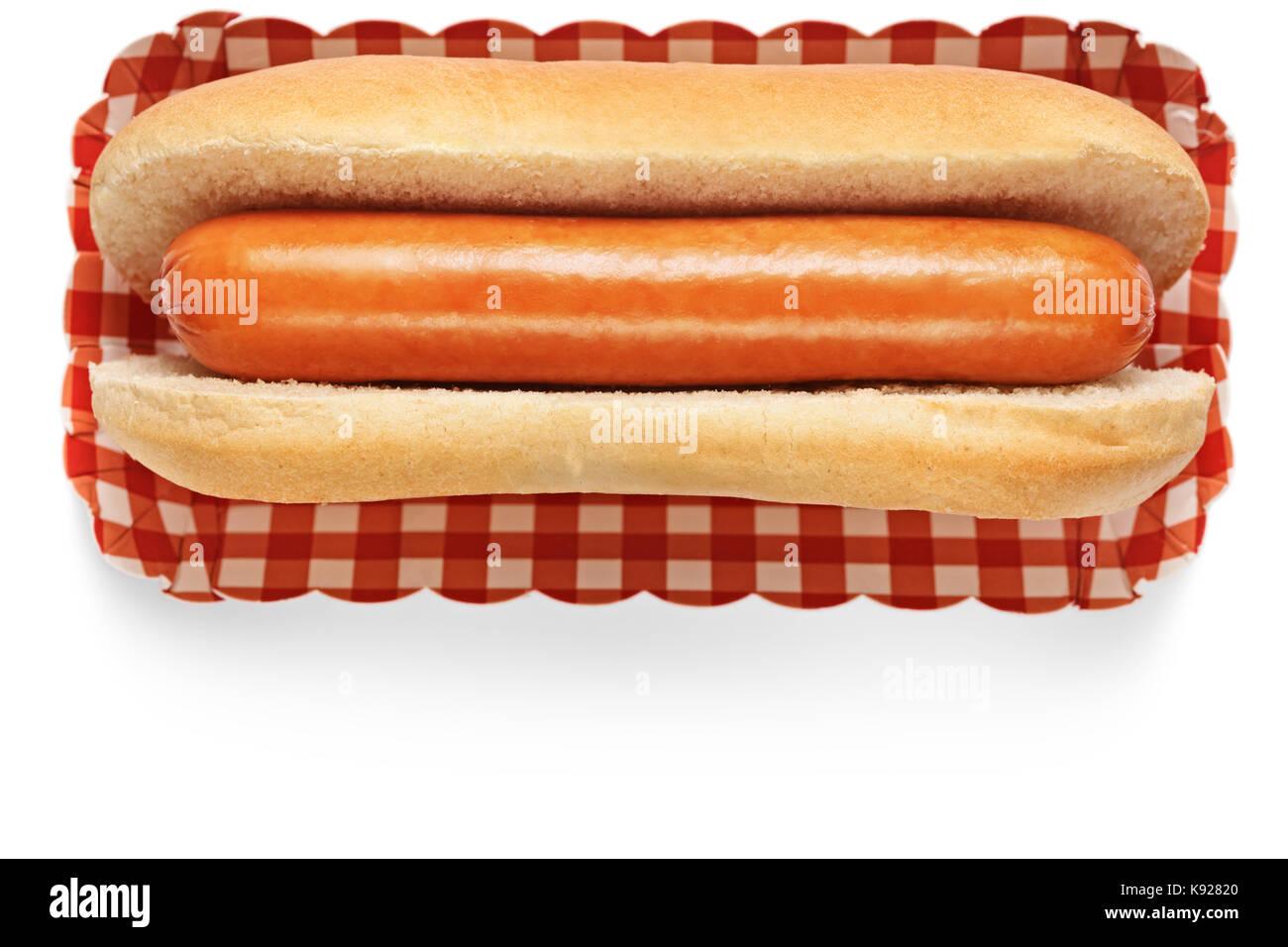 Hotdog isolated on white background - Stock Image