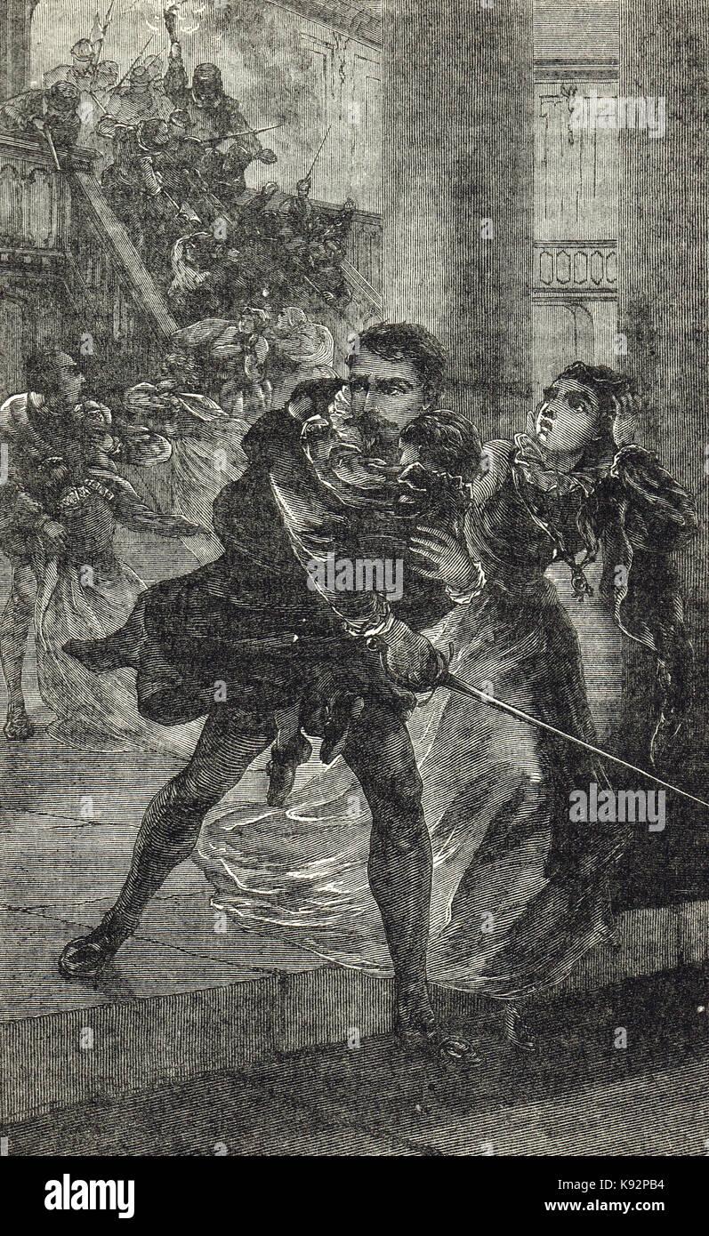 St. Bartholomew's Day massacre, 1572 Stock Photo