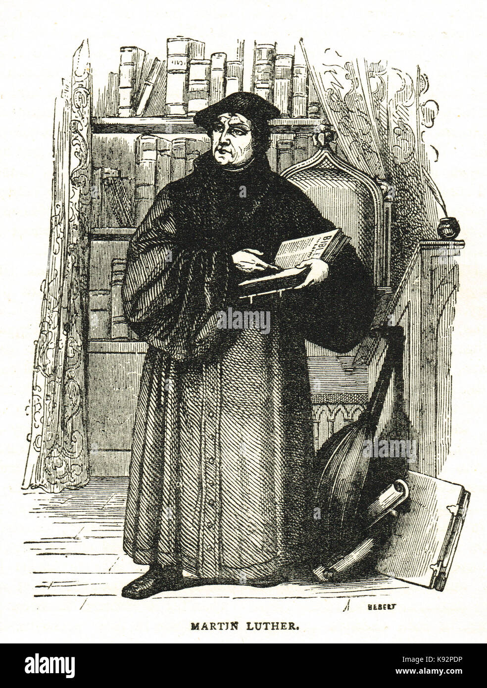 Martin Luther protestant reformer (1483-1546) - Stock Image