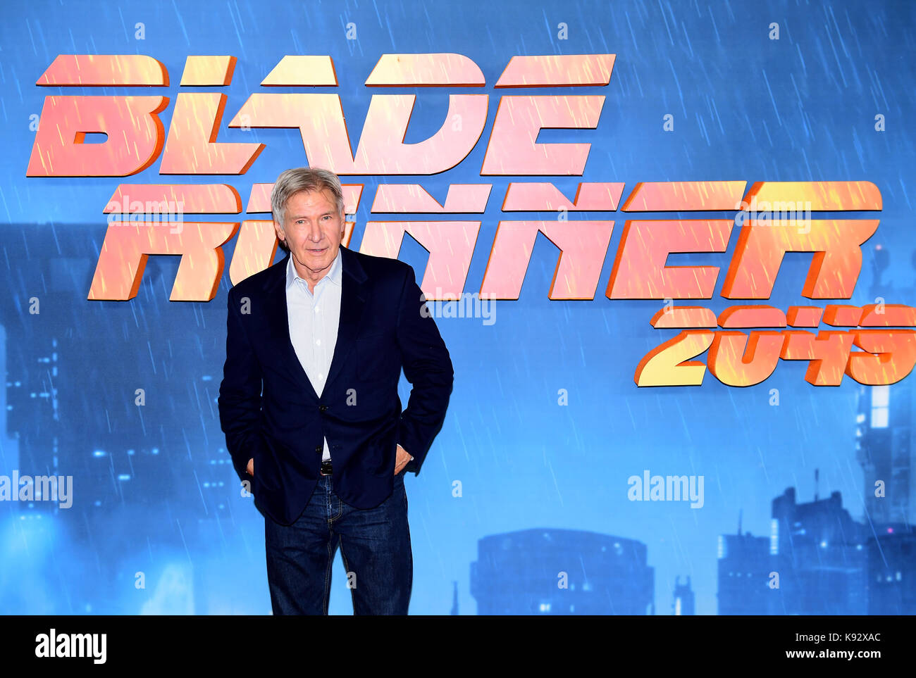 Harrison Ford attending the Blade Runner 2049 photocall at the Corinthia Hotel, London. - Stock Image