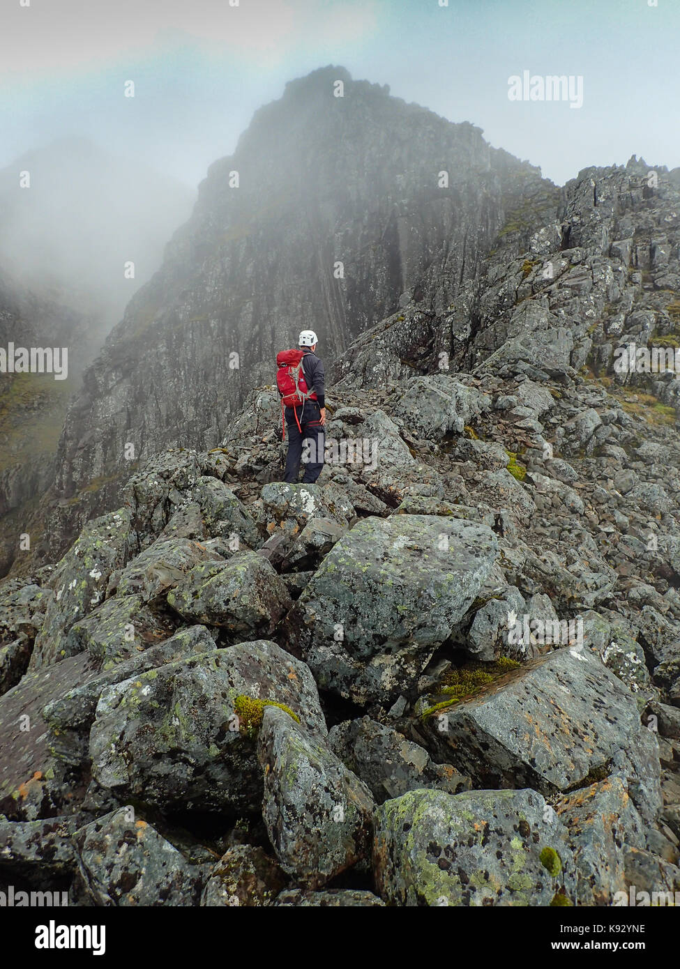 446fc96cc Climbing Ledge Route on Ben Nevis, Scotland, Scottish Highlands ...