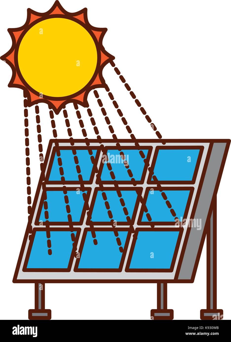 solar panel modern technologies alternative energy sources - Stock Image