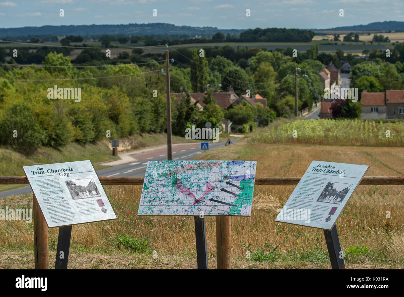 Trun-Chambois gap, where the Falaise Gap was closed by Canadian and Polish troops in August 1944 as part of the - Stock Image
