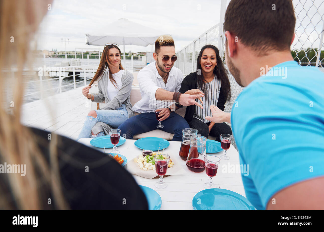 Friends birthday, a good summer sunny day - Stock Image