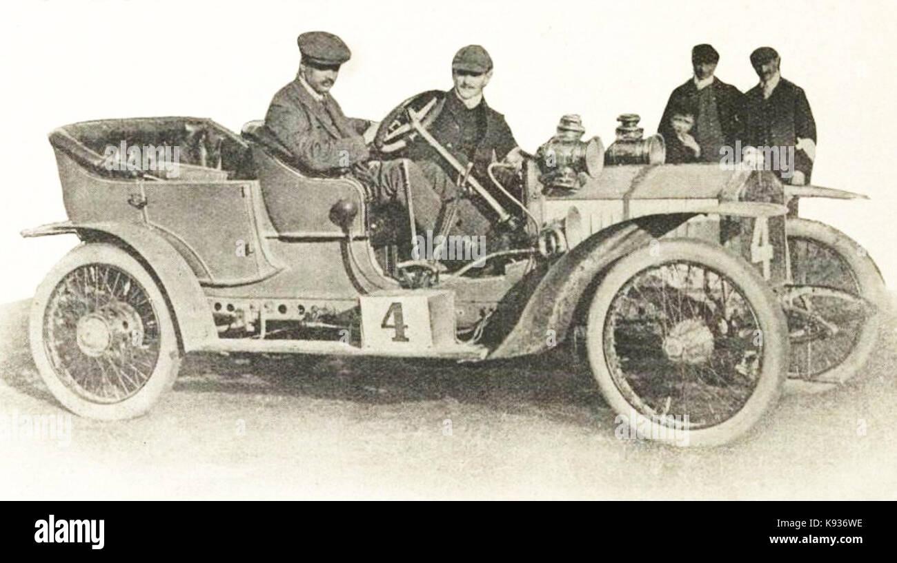 L'honorable C.S. Rolls, vainqueur du RAC Tourist Trophy 1906 - Stock Image