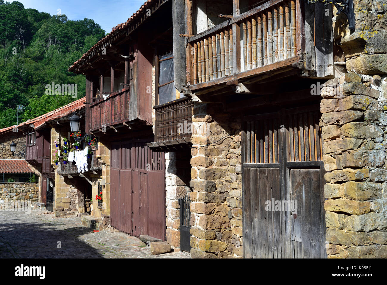 House in Barcena Mayor, Cantabria. Northern Spain Stock Photo