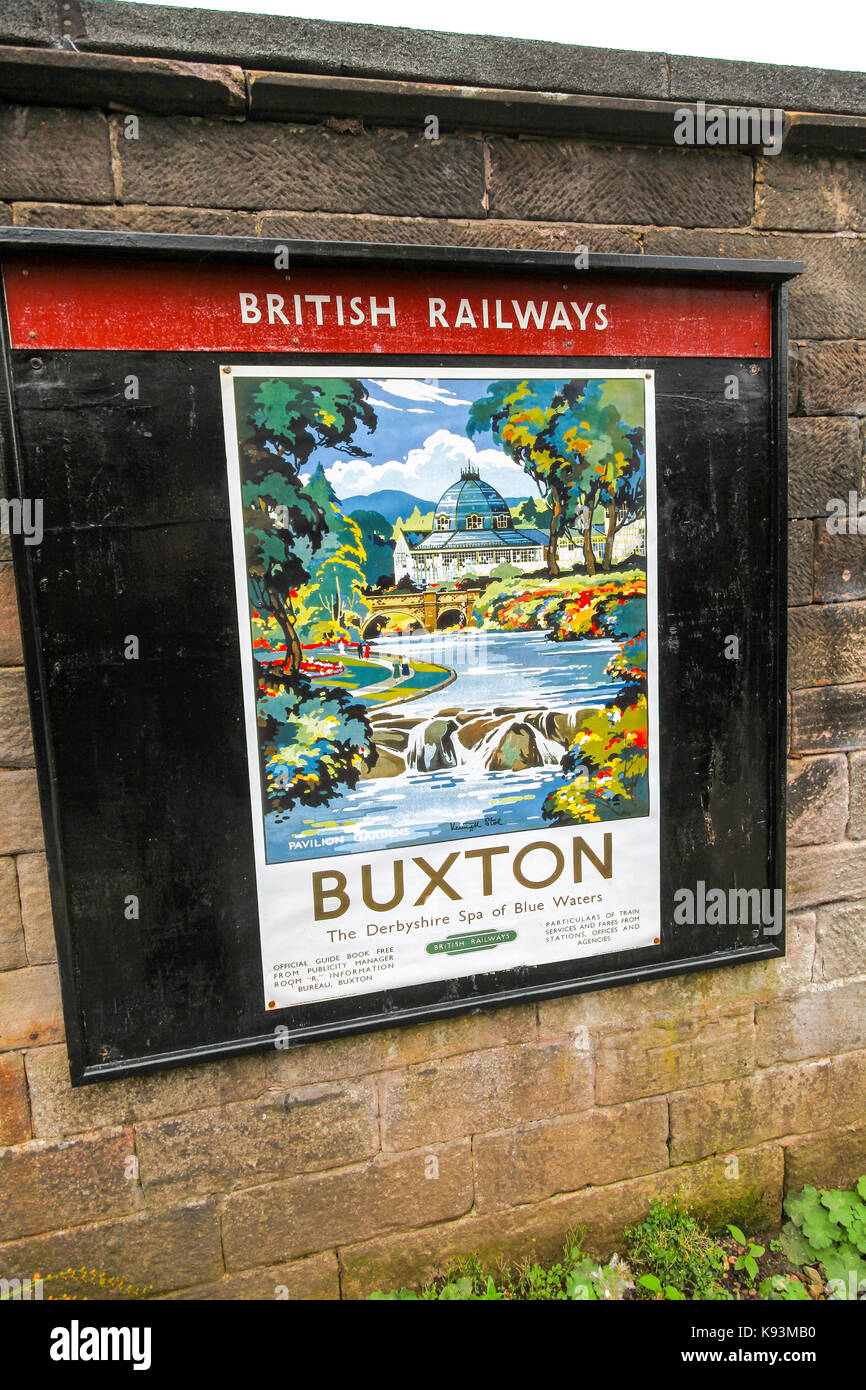 C British Railway The Derbyshire Spa Of Blue Waters Vintage Poster Buxton