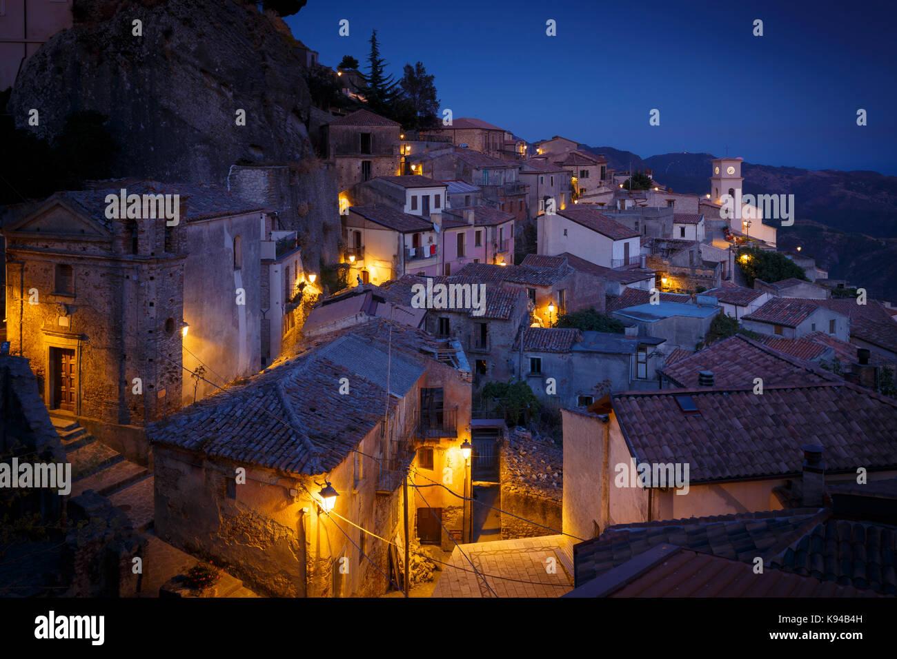 Townscape of Bova, Reggio Calabria, Calabria, Italy. - Stock Image
