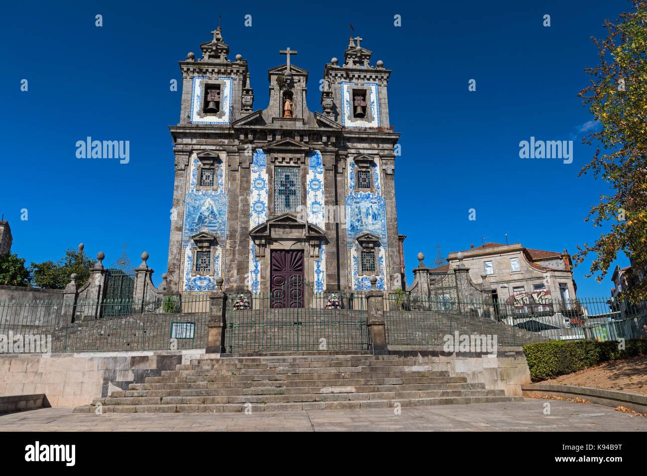 Igreja de Santo Ildefonso. Saint Ildefonso Church Porto Portugal - Stock Image