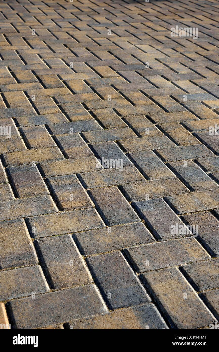 Brick driveway - Stock Image