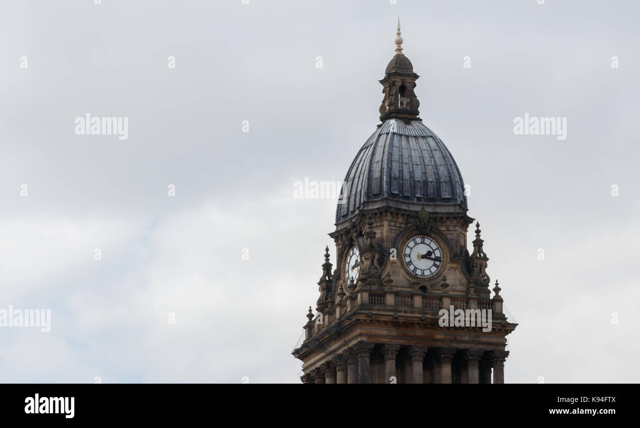 Clock tower, Leeds Town Hall - Stock Image