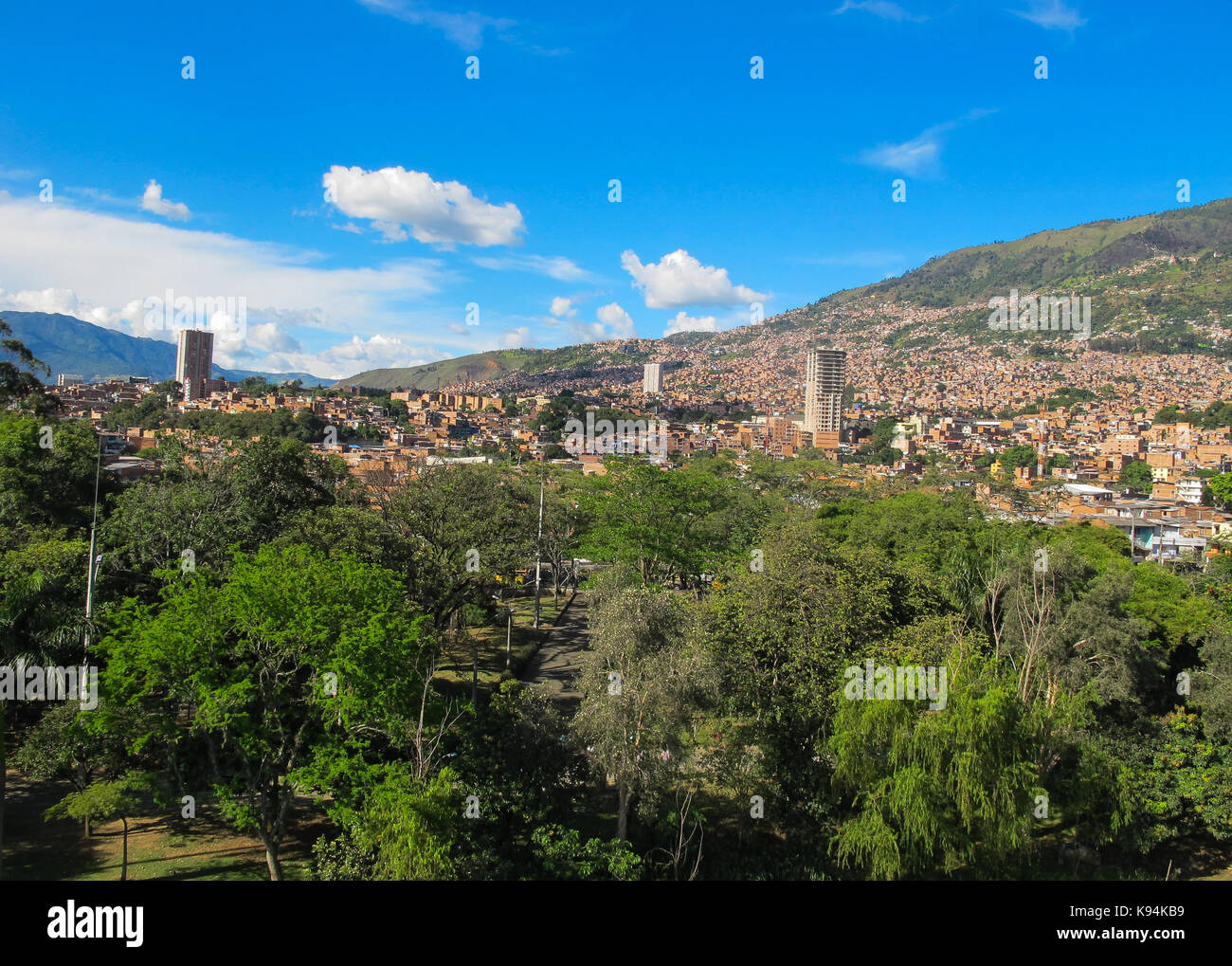 The city Medellin ,  Colombia - Stock Image