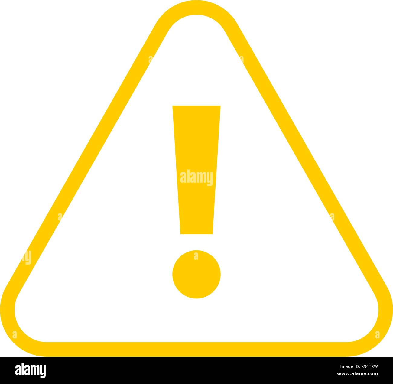 Use it in all your designs. Thin line style exclamation mark icon warning sign attention button in triangle shape. - Stock Image