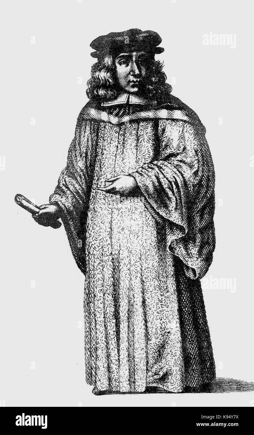 Loggan Oxford DMus 1675 - Stock Image