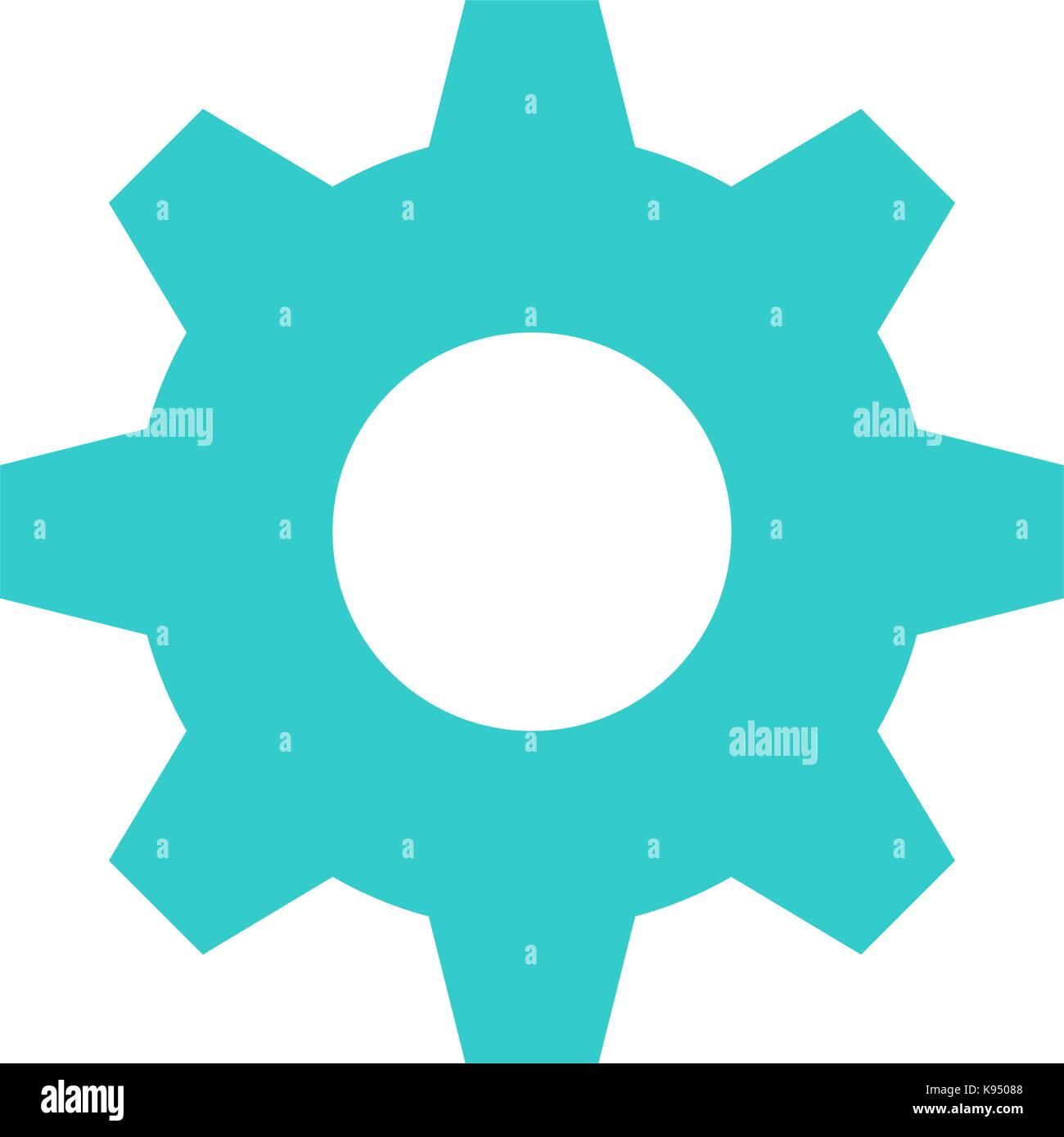 Flat cog icon gear sign cogwheel interface button