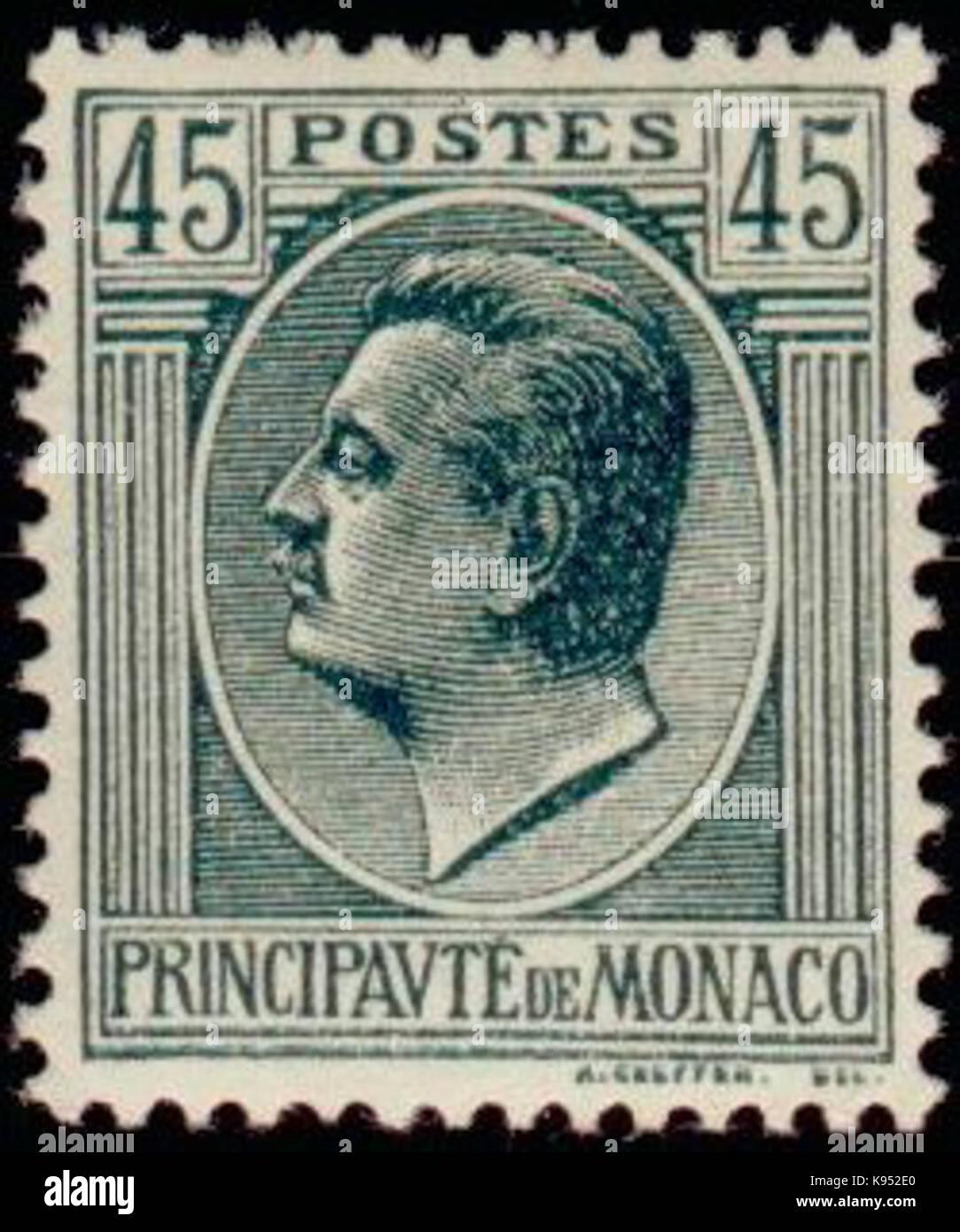 Louis II 1924 45c - Stock Image