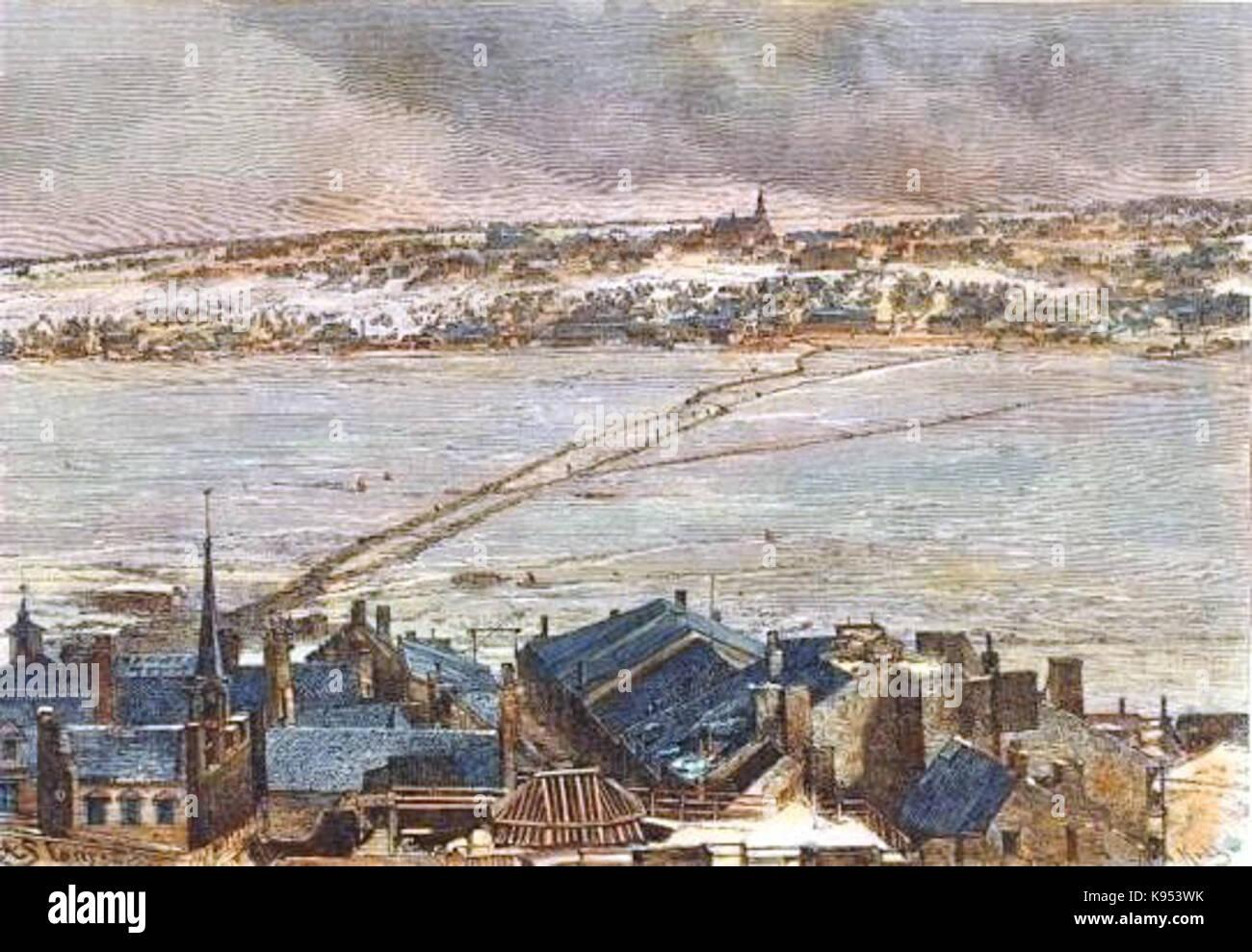 Levis et le pont de glace - Stock Image