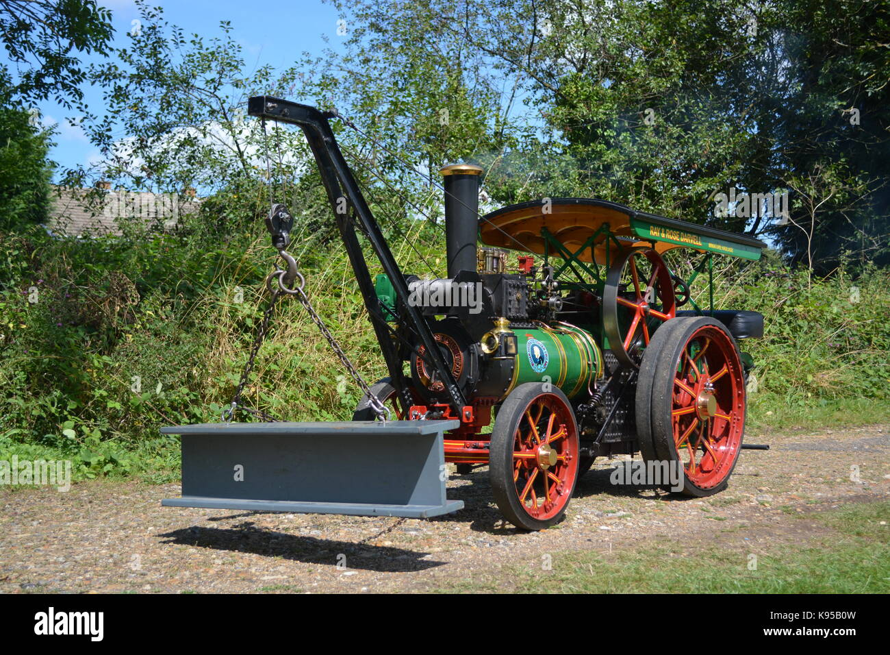 3 inch Scale Foster Traction Engine - Stock Image
