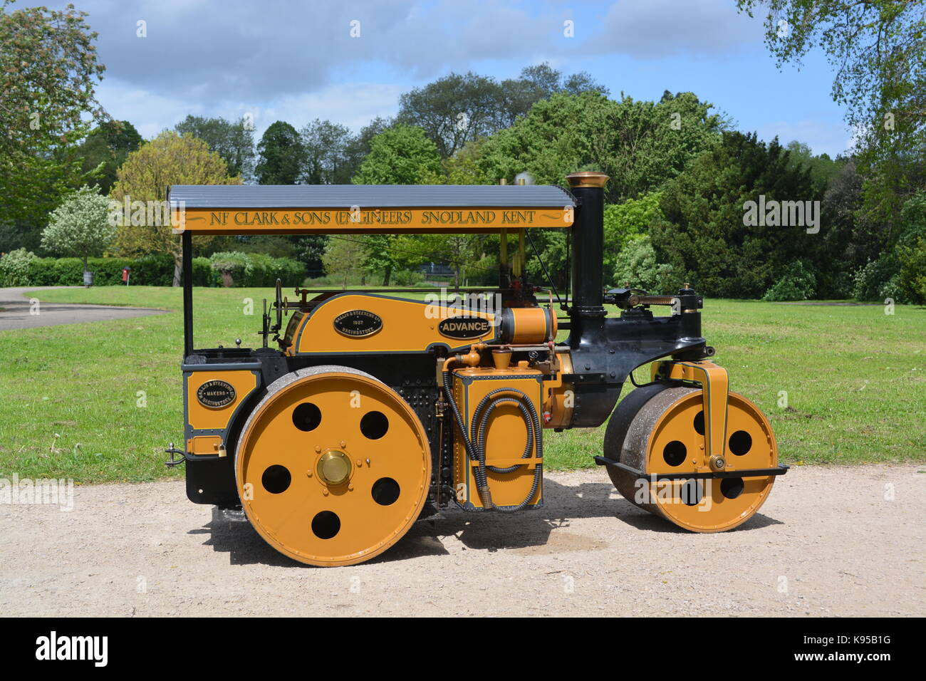 4 inch Scale Wallis Advance Steam Roller - Stock Image