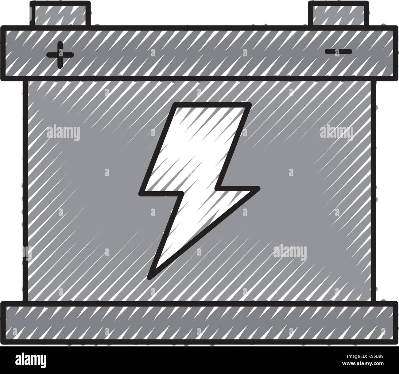 car battery accumulator energy power and electricity icon - Stock Vector