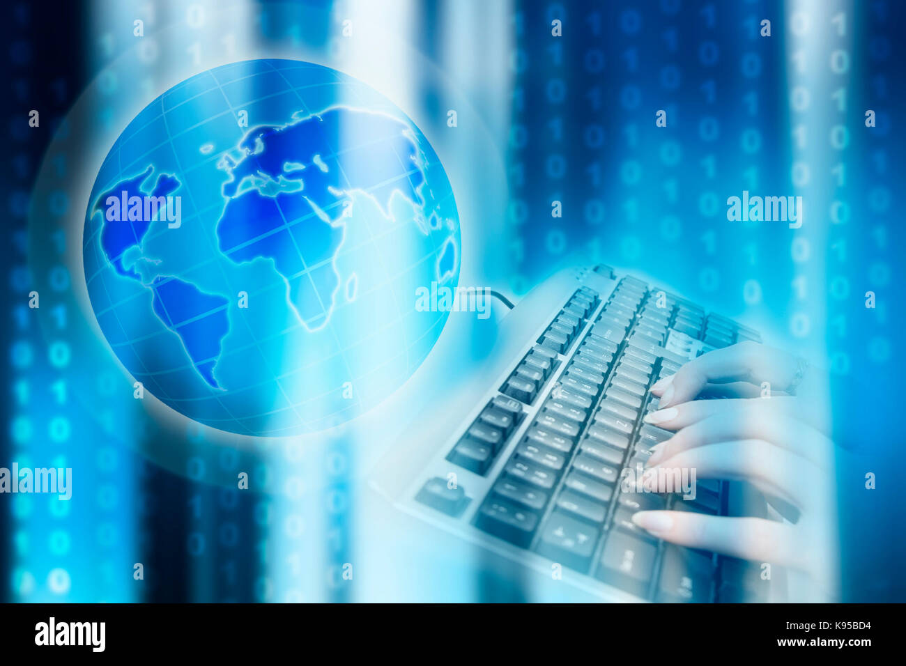 internet and global connectivity concept Stock Photo