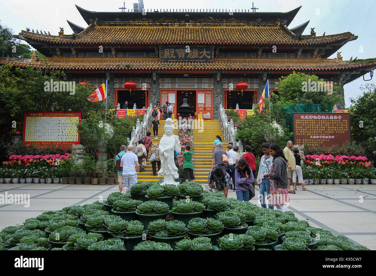 Tian Tan Buddha The Big Buddha and Po Lin Monastery. Po Lin monastery. © Jayne Russell/Alamy Stock Photo - Stock Image