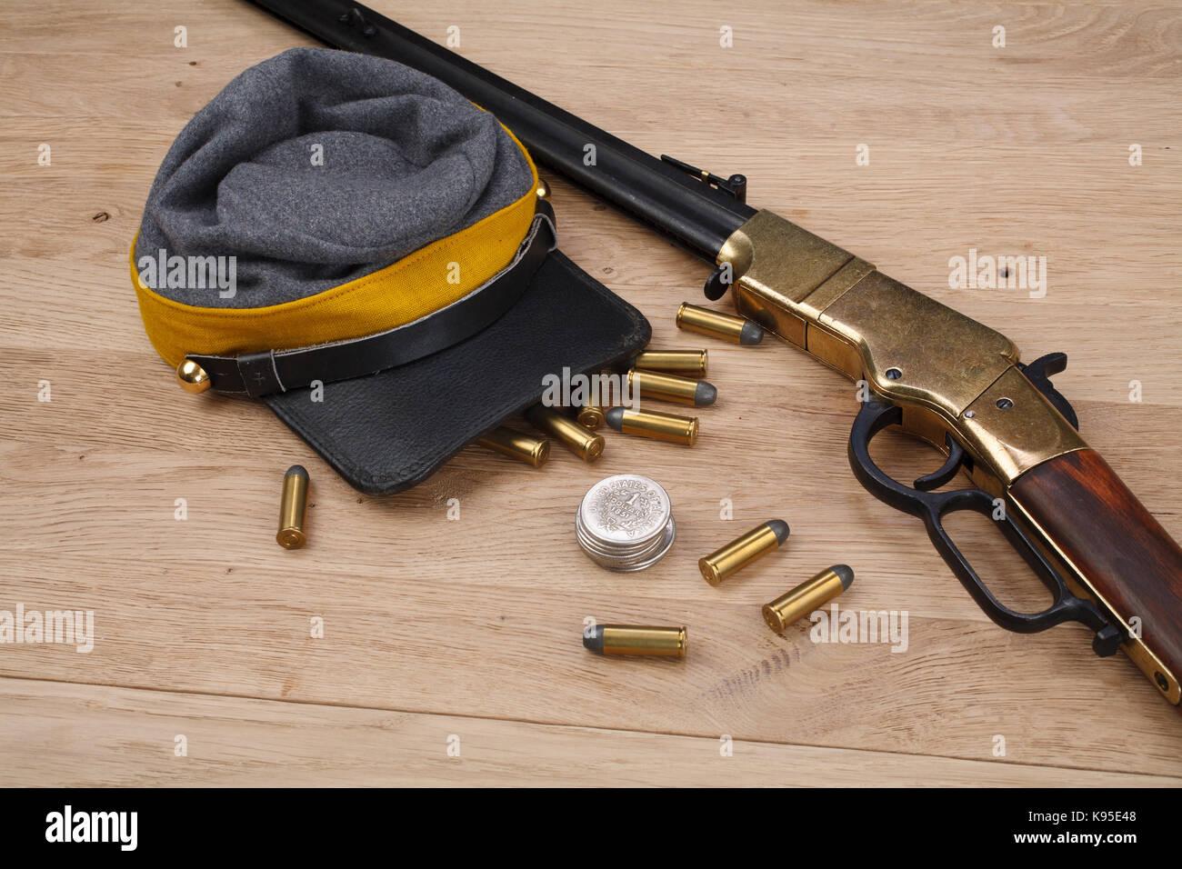 Civil War period repeating rifle Stock Photo: 160546072 - Alamy
