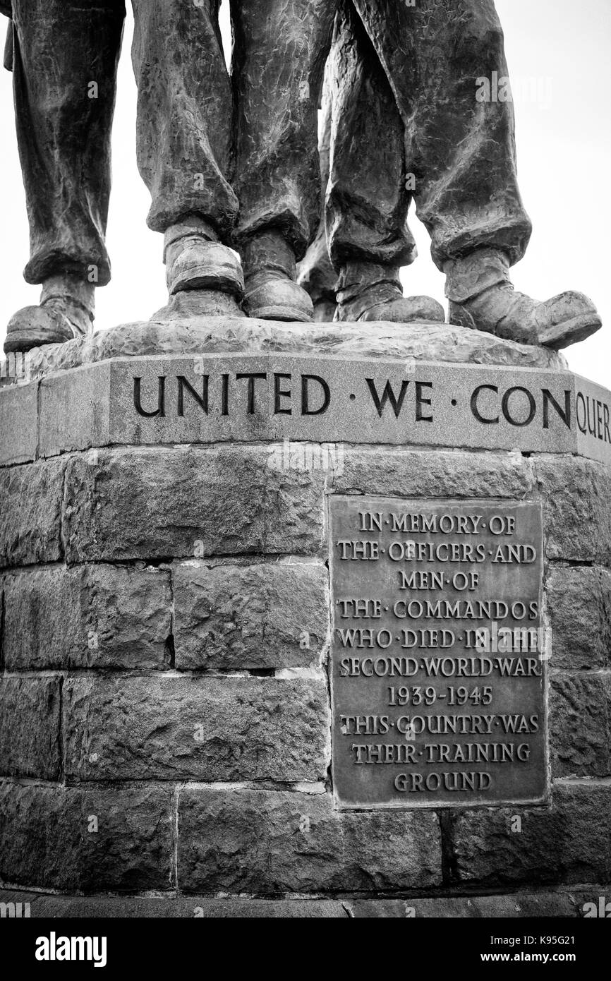 The Commando Memorial - a Category A listed monument to the British Commando Forces lost in World War II, Spean - Stock Image