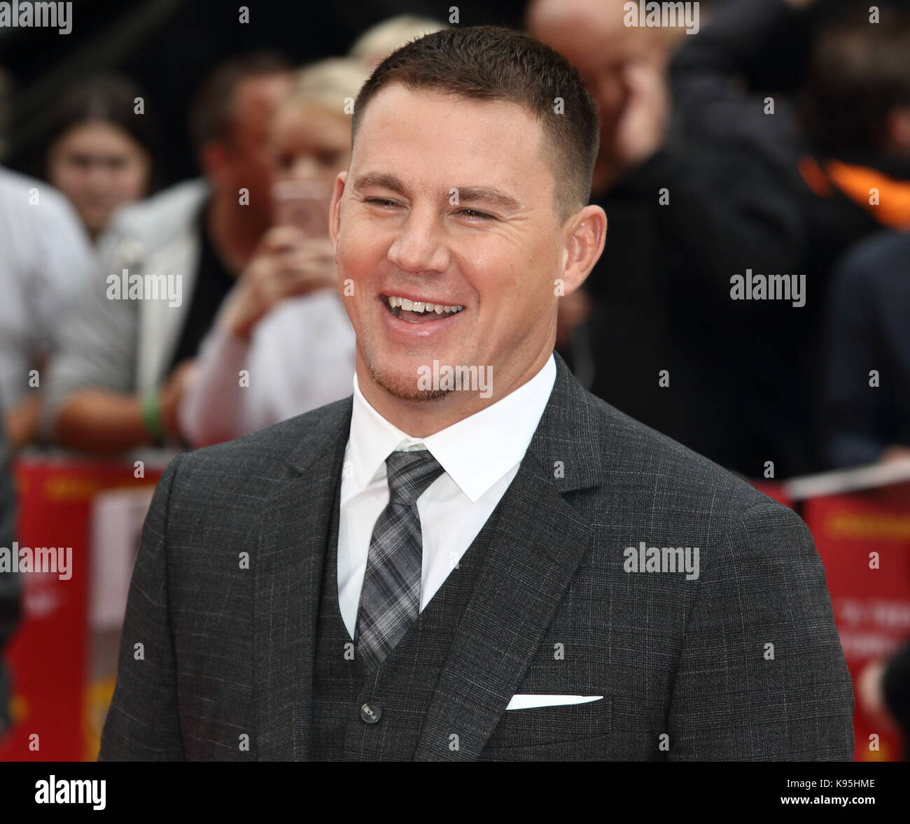 Logan Lucky UK film premiere at the Vue West End, Leicester Square, London  Featuring: Channing Tatum Where: London, Stock Photo