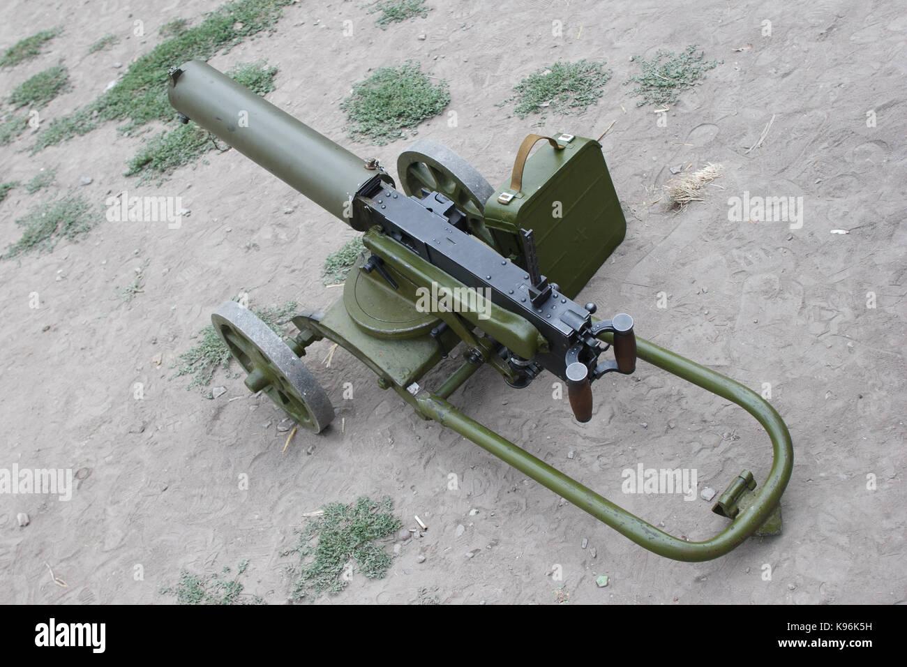 Machine Gun Ww1 Stock Photos & Machine Gun Ww1 Stock Images