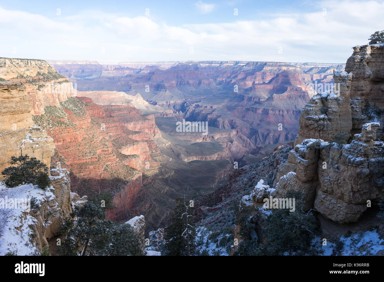 A view of the Grand Canyon from beginning of South Kaibab Trail. - Stock Image