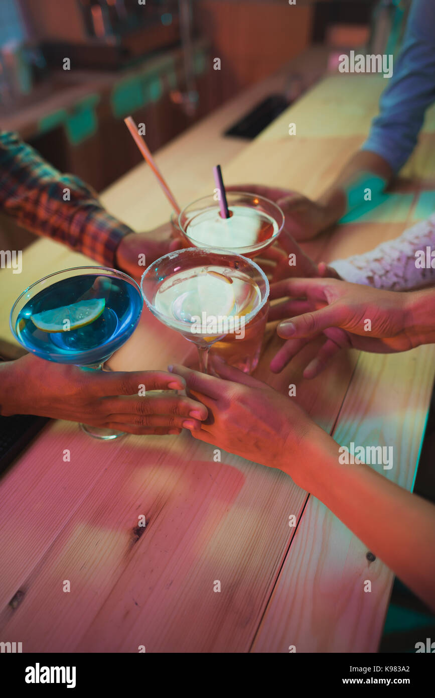 alcohol cocktails - Stock Image